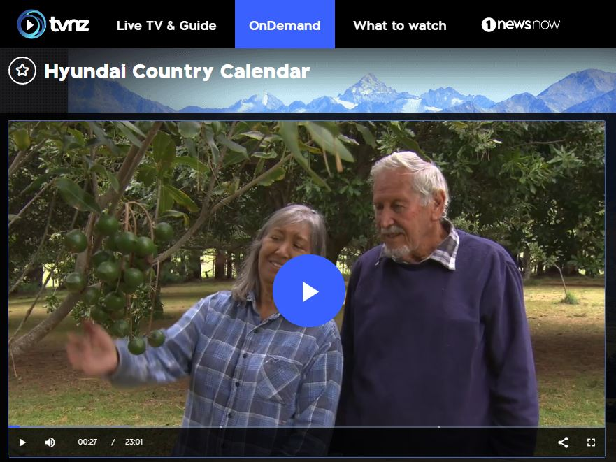 Torere Macadamias on TVNZ Country Calendar